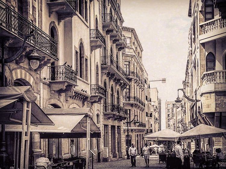 Traditional Lebanese view. French architecture buildings lebanon ... (Downtown Beirut)