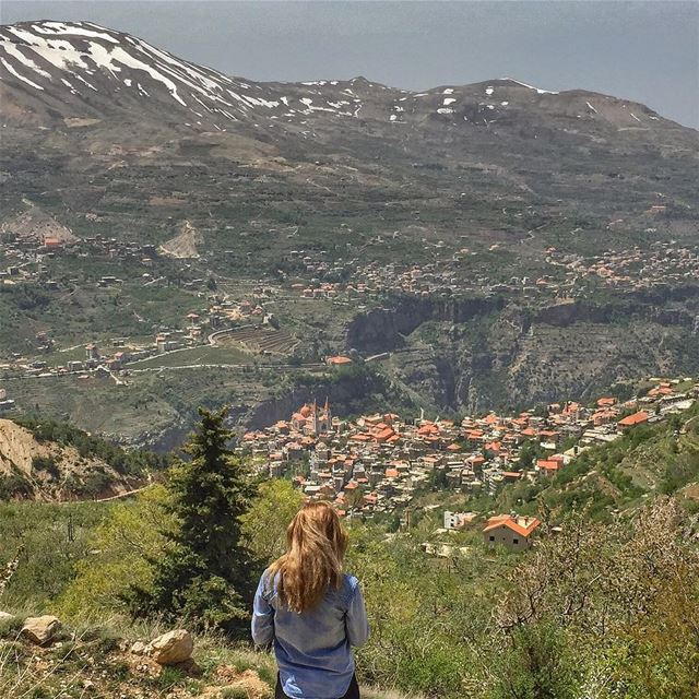 Bcharreh from above - @vitalina.a LiveLoveBecharre Mountains Snow ... (Bcharreh, Liban-Nord, Lebanon)