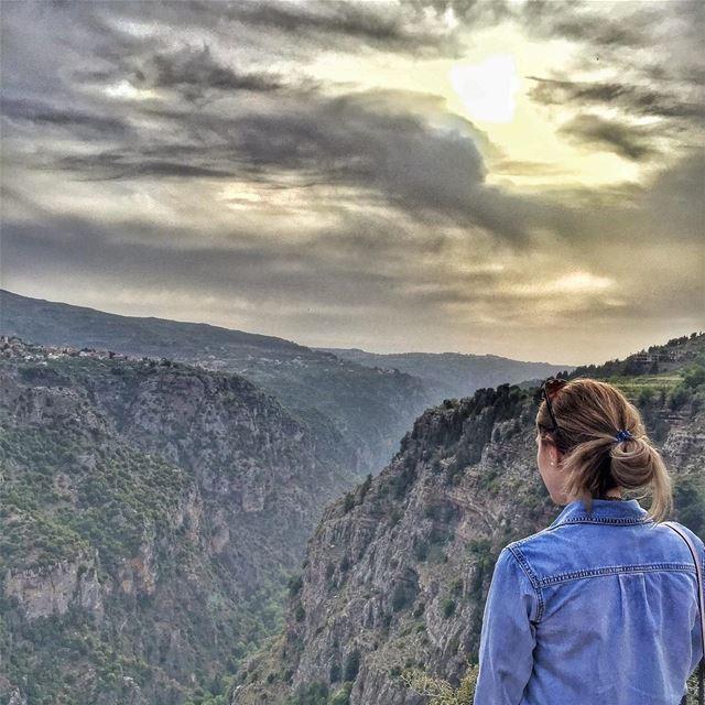 This kind of view - @vitalina.a Valley Qannoubine LiveLoveBcharre ... (قنوبين ، وادي القديسين)