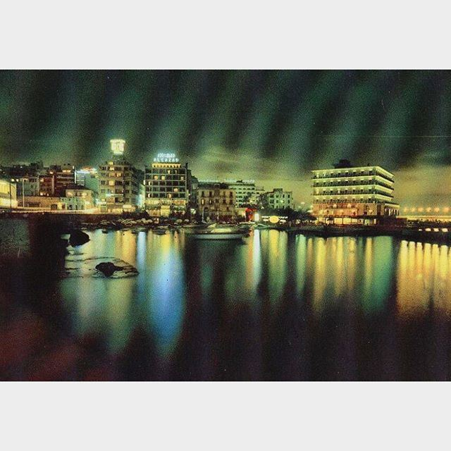بيروت ليلاً عام ١٩٥٩ ،