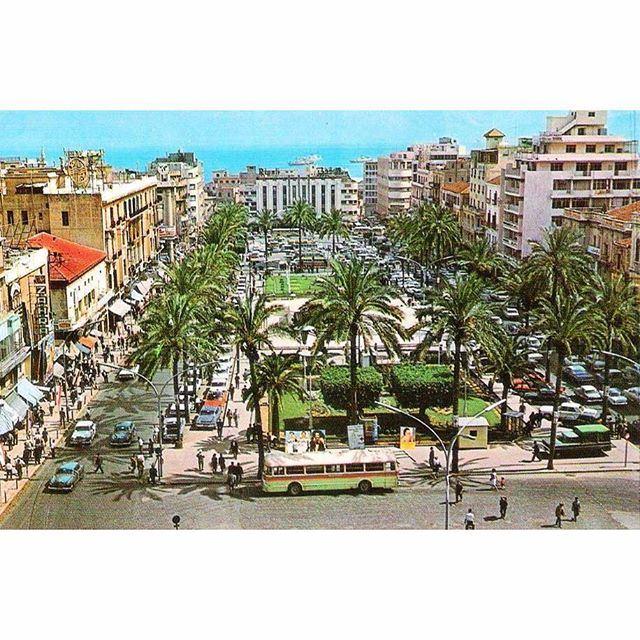 صباح الخير من بيروت ساحة الشهداء عام ١٩٧١ ،