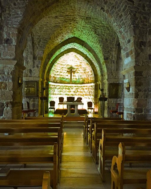 XII century old village church traditional oldstones beautiful ... (Hadath El-Jubbah, Liban-Nord, Lebanon)