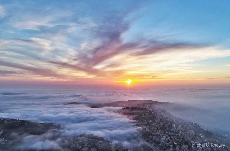 Beautiful Sunsets need cloudy skies... AboveLebanon Lebanon ...