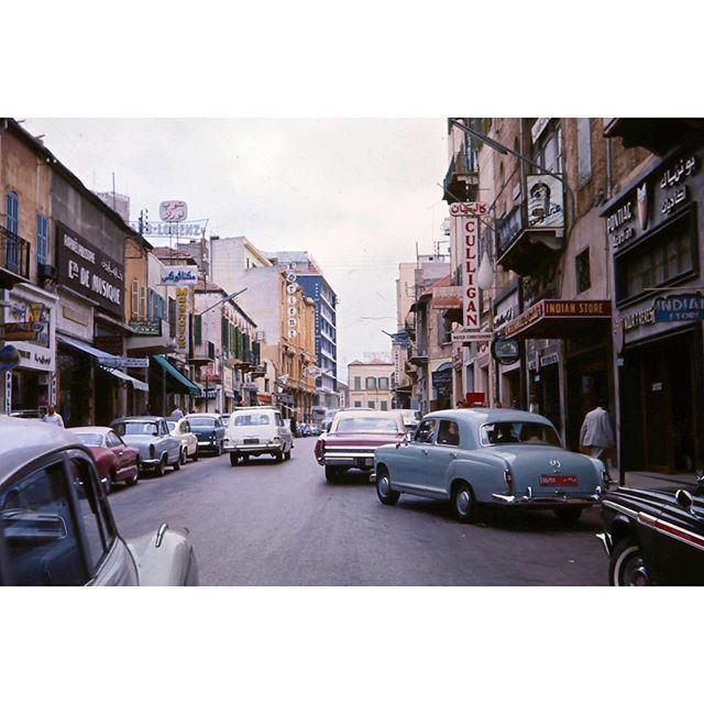 صباح الخير من بيروت شارع طرابلس عام ١٩٦٥ ،