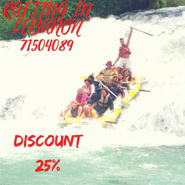 Enjoy your summer with us at Al Assi- river .  25% discount on rafting... (Hermel Assi River)