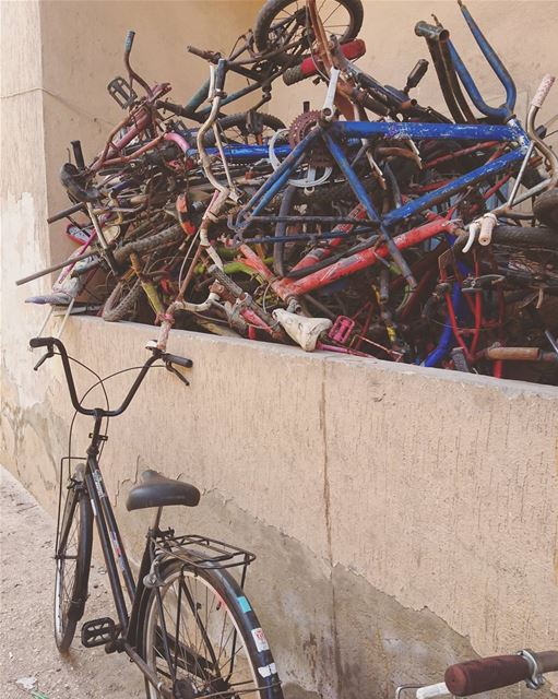 Bikes, anyone?🔽 sidon saida livelovesaida travel lebanon ... (Sidon, Lebanon)