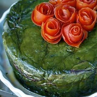 A beautiful recipe by Chef Marlène Mattar makes a cake out of swiss chard...