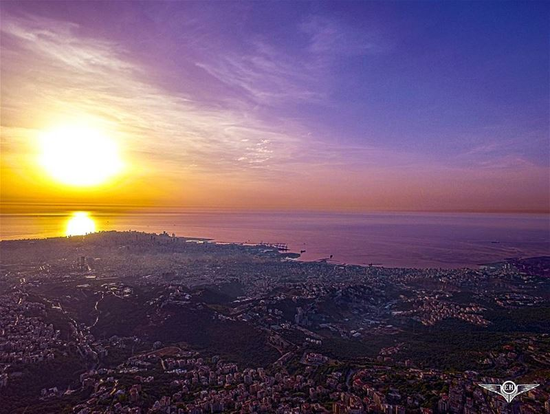 Beirut as seen from Ain Saadeh via phantom@dronekoning dji phantom4 ...