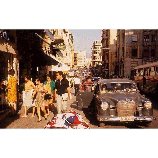 صباح الخير من بيروت شارع ويغان عام ١٩٦٨ ،