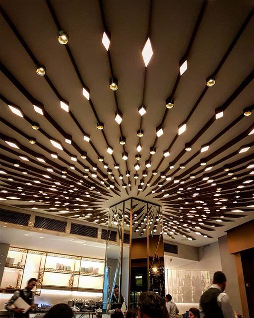 Look up when in Beirut stunning lighting design art travel lebanon... (Lily's Cafe)