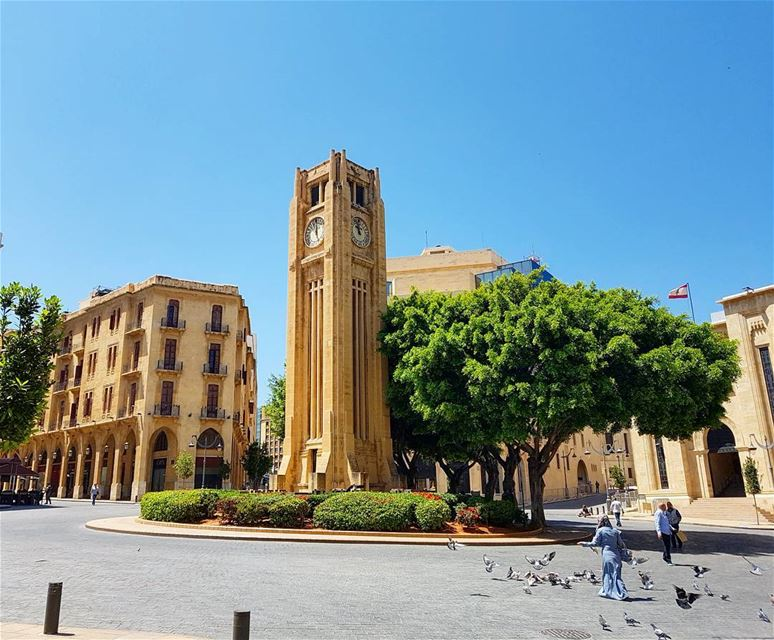 The downtown area of Beirut around Parliament of Lebanon, famously known... (Place De L'etoile Downtown Beirut)