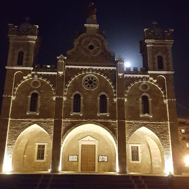 batroun saint estephan church cathedral oldchurch heritage moon ... (Eglise St. Estephan Batroun)