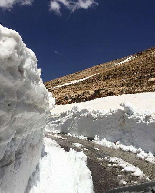 The last signs of winter ❄️☀️ a7labaladbil3alam photo love photography... (Dahr el Qadîb)
