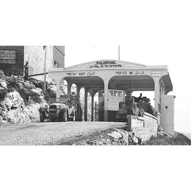 الحدود اللبنانية الفلسطينية عام ١٩٣٠ .
