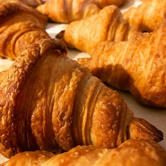 Crispy croissant 😋🥐 livelovefood livelovebeirut beirut zahle bekaa ...