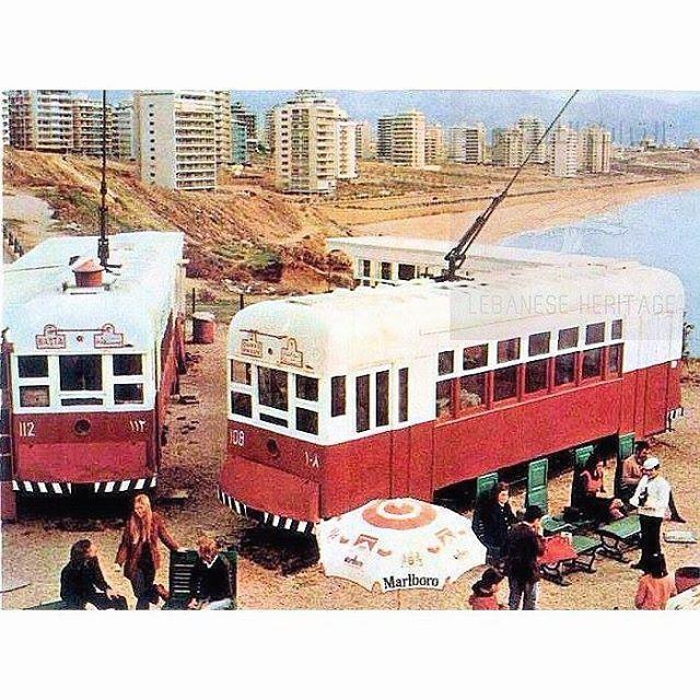 بيروت مطعم الترمواي الرملة البيضاء عام ١٩٧٢ ،