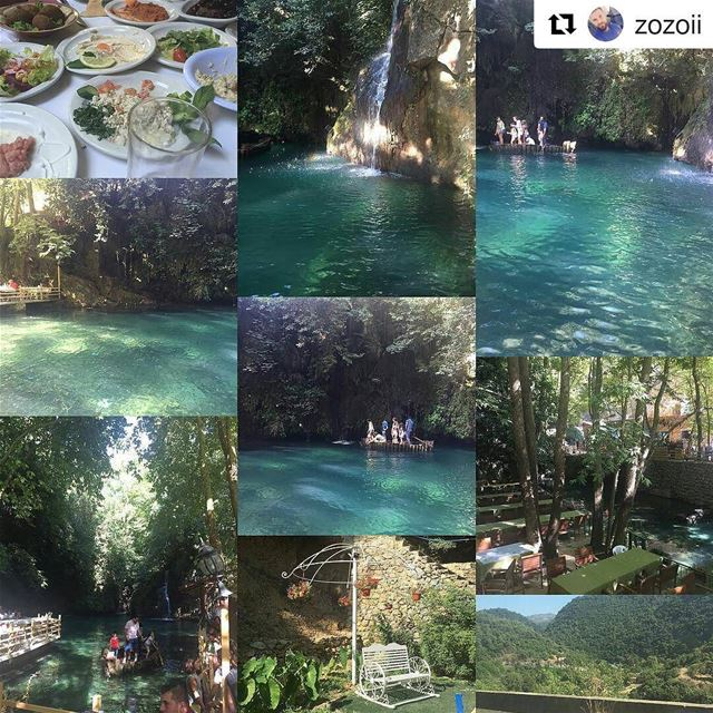 Repost @zozoii・・・Shallalat al zarka river chouf baakline amazing ...