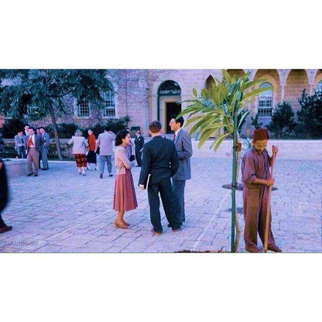 بيروت الجامعة الأمريكية عام ١٩٦١ ،