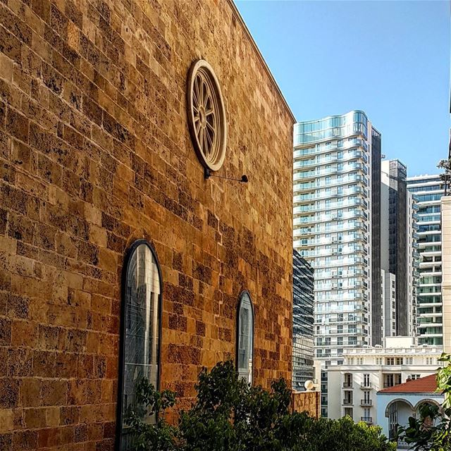 Beirut building patchwork architecture design travel art ...