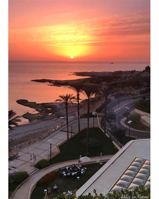 Sunsets are proof that, no matter what happens, every day can end... (Mövenpick Hotel & Resort Beirut)