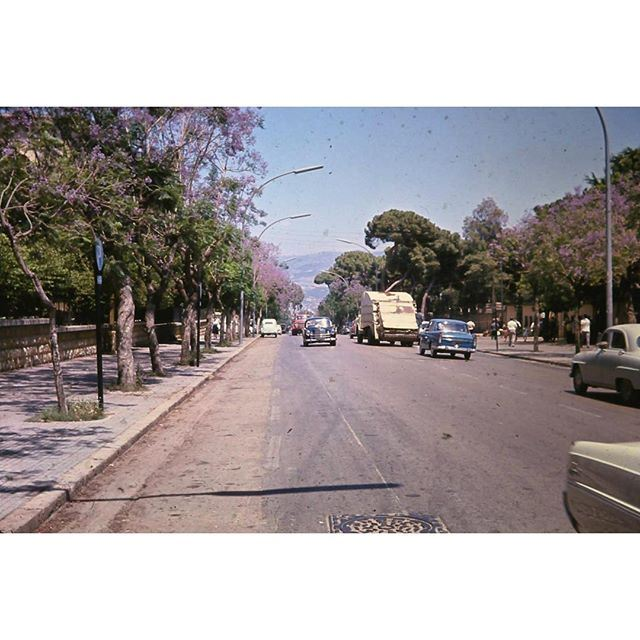 """Beirut Near """"El Horch"""" in 1963 . Collection : Kongstad ."""