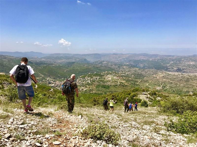 2 options available: scrolling or walking! The last part of the 24km... (Al Shouf Cedar Nature Reserve)