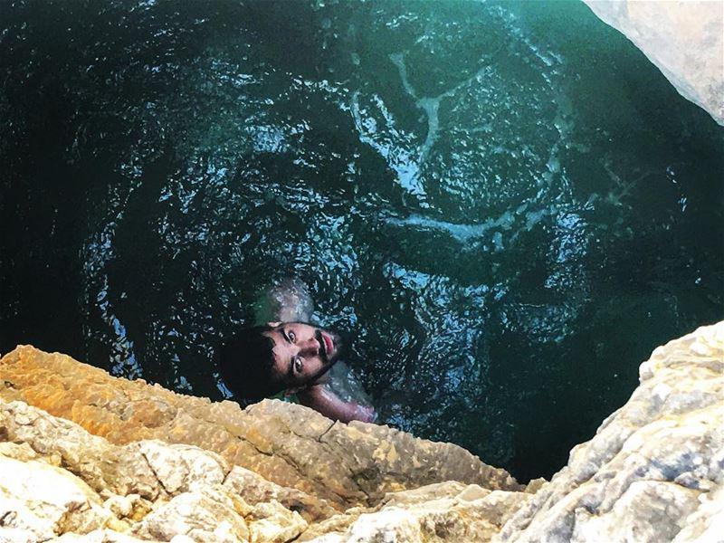water cave swimming summer adventure adventurelife adventuretime... (Kfarabida Batroun)