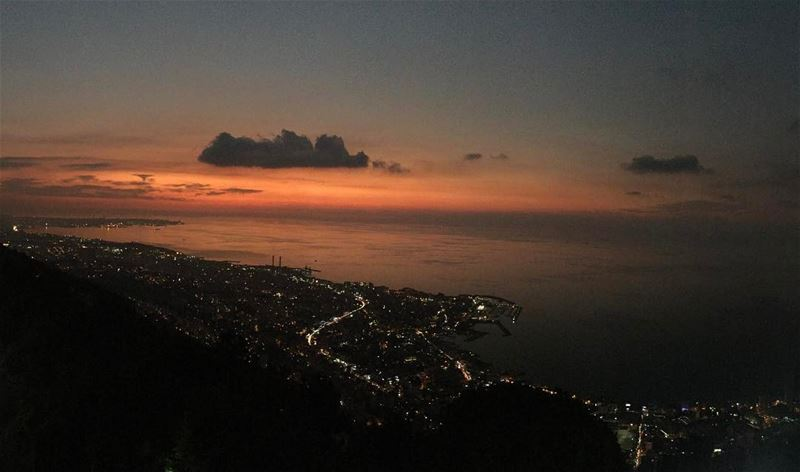 bay jounieh harisa sky clouds views beautiful amazing nature ...