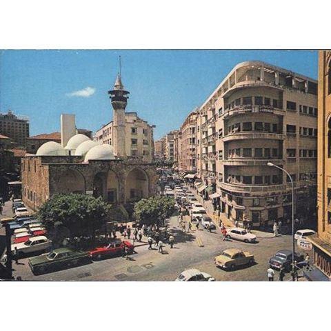 شارع ويغان وسط بيروت عام ١٩٦٧ ،