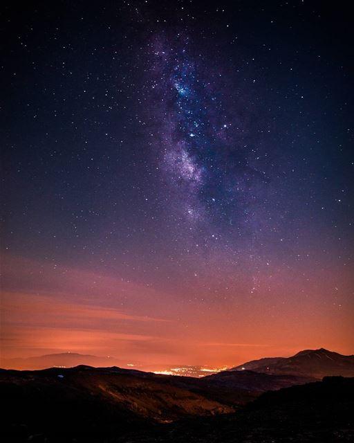 Milkyway🌌 above Zahle and Bekaa valley🌌🌌..... milkyway stars... (Mount Sannine)