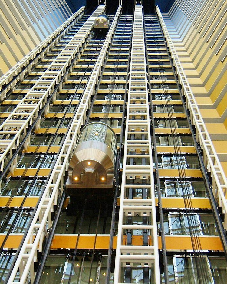 ... Enjoy the elevator ride...------.. photography photooftheday ... (Jumeirah Emirates Towers)