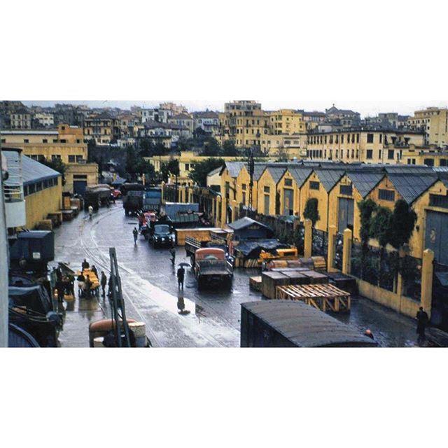 مرفأ بيروت عام ١٩٥٨ ،