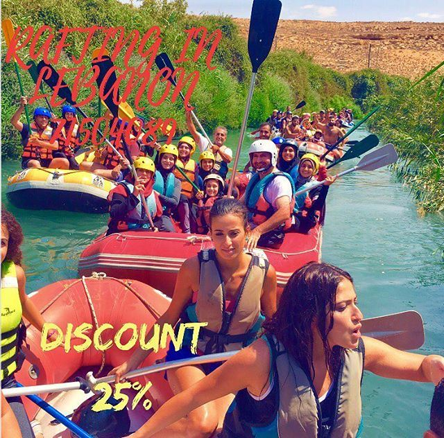 Enjoy your summer with us at Al Assi- river . 25% discount on rafting...