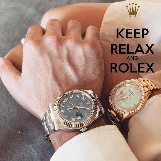 Keep RELAX and ROLEX . Watchlover WatchAddicted.. .. .. .. ...... (Abdel Wahab Dubai Marina)
