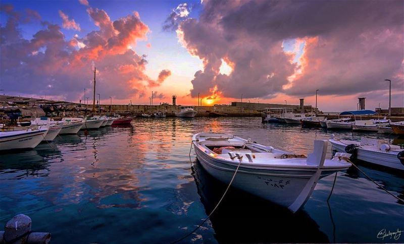 Batroun port fishing boats lebanon beautiful nature travel ... (Batroûn)