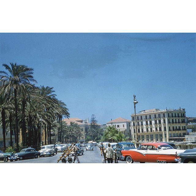 Beirut Avenue Des Francias 1956 ,