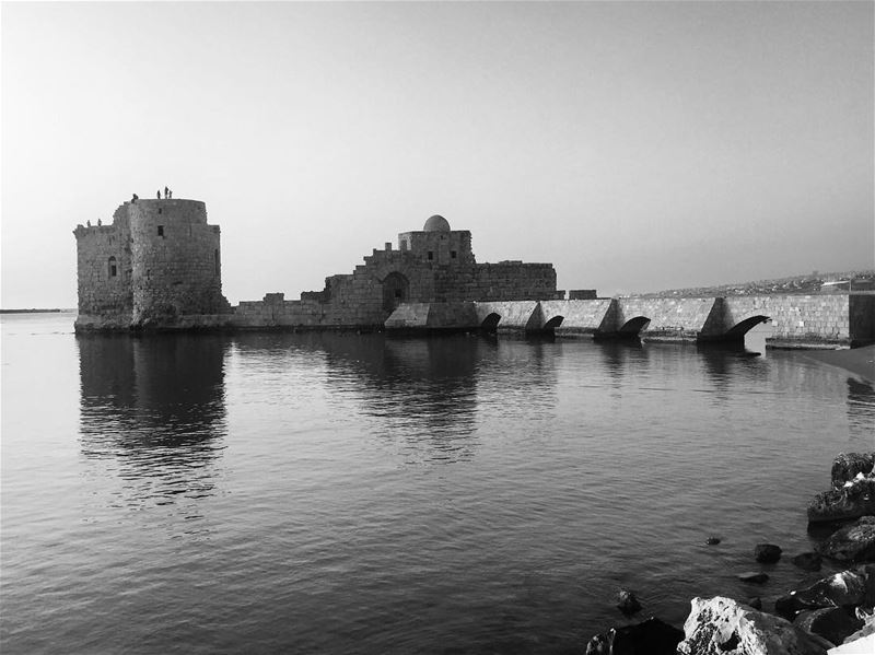 bw bnw blackandwhitephotography bnw_captures blackandwhite ... (Saida The Sea Castle)