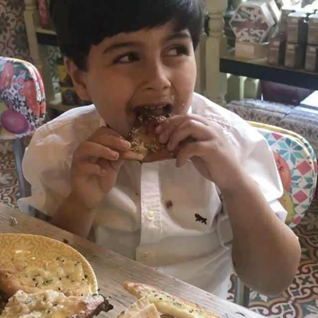 Love cooking and feeding the nephews.. ❤️❤️❤️ kids children eat eating ... (Comptoir Libanais)