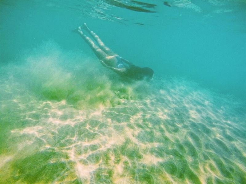 LET'S BE MERMAIDS 💦🐬🐠 IntoTheBlue HappyPlace Underwater Ocean ... (Tyre, Lebanon)