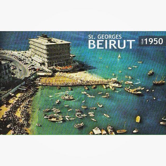 بيروت السان جورج عام ١٩٥٠ ،