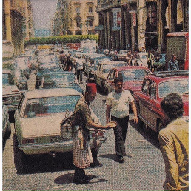 بيروت شارع المعرض عام ١٩٧٤ ،