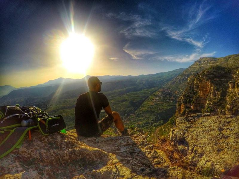 Life should have more mountains and less stress. viaferrata ... (Akoura, Mont-Liban, Lebanon)