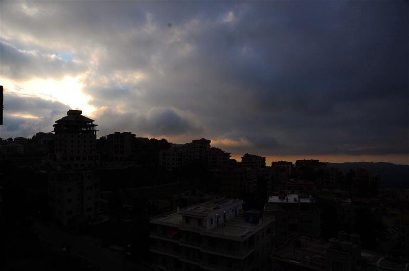 The house on the hill. Sunset over Mount Lebanon. lebanon beirut ... (Bhamdoûn, Mont-Liban, Lebanon)