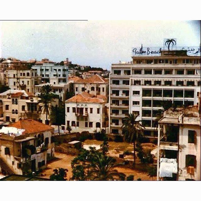بيروت فندق بالم بيتش عين المريسة عام ١٩٥٣ ،