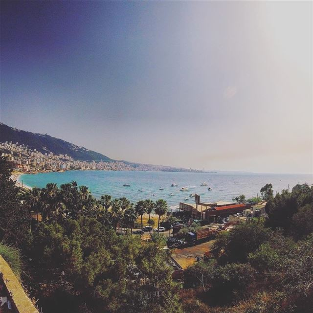 This is not Rio ... its Jounieh Bay 🇱🇧☮️ lebanon lebanon_hdr gopro ... (Bay Of Jounieh)