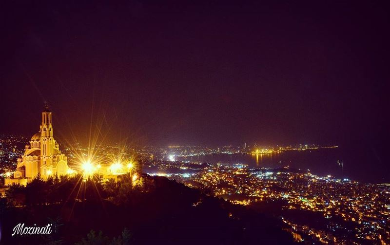 night nights nightout nightin nightlife nightlights photography... (Harîssa, Mont-Liban, Lebanon)