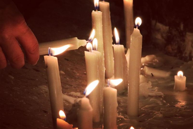The candle of hope candles lights hope life god godblesslebanon ... (Harîssa, Mont-Liban, Lebanon)