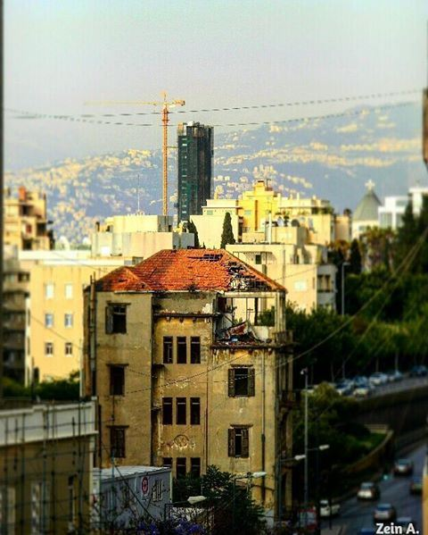 old  building  destroyed  sky  windows  balcony  mountains ... (Spears - Hamra)