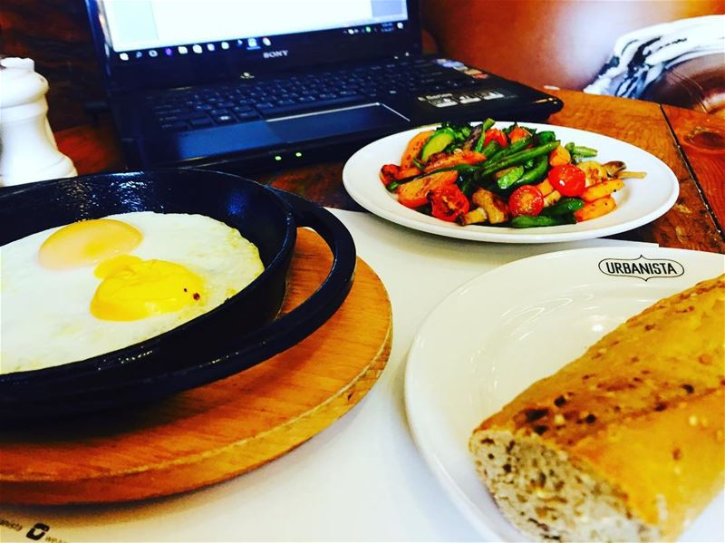 morning breakfast urbanista breakfastlover veggies eggs foodsafety... (Urbanista Gemmayze)