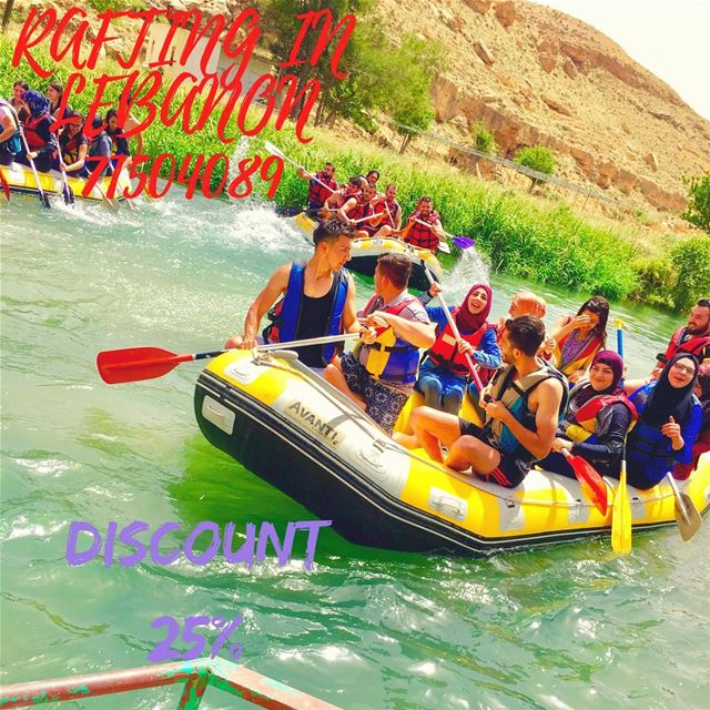 Enjoy your summer with us at Al Assi- river . 25% discount on rafting... (El Hermel)